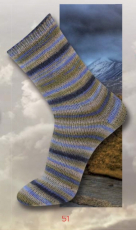 katia - STORM Sockengarn - 51 Beige-Blau