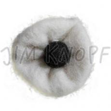 JIM KNOPF - 62 Filz Blume - 02 Weiß-Schwarz