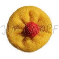 JIM KNOPF - 62 Filz Blume - 10 Gelb-Rot