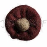 JIM KNOPF - 62 Filz Blume - 11 Bordeaux-Beige