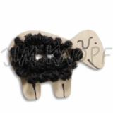 JIM KNOPF - 50 cocos Schaf mit Wolle - 01 schwarz